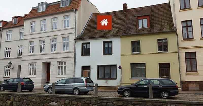 Modernisierungsbedürftiges Stadthaus mit Hinterhaus in der Wismarer Altstadt zu verkaufen