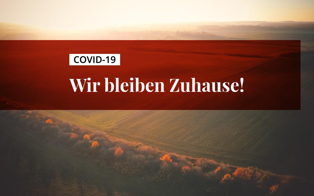 Titelbild: Covid-19 // wir bleiben zuhause